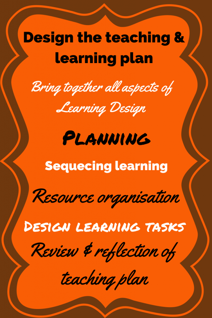 Teaching & learning plan