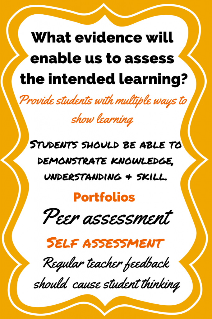 What evidence will enable assess