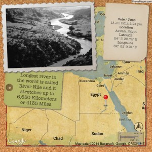 Longest river in the world is called River Nile and it stretches up to 6,650 Kilometers or 4135 Miles.
